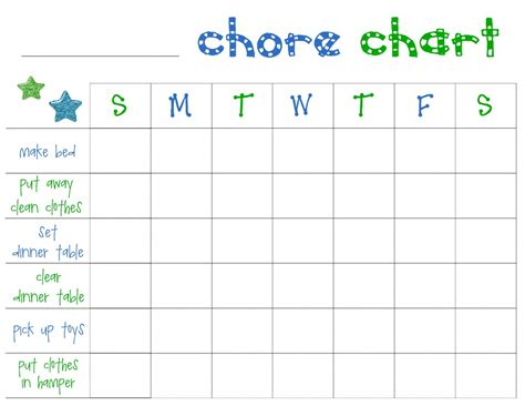 printable chore charts  toddlers frugal fanatic