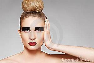 High Fashion Style. Creative Make-up And Hairstyle Stock ...