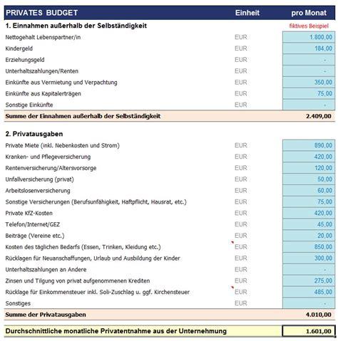 unternehmerlohn berechnung und beruecksichtigung bei der