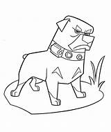 Coloring Dog Angry Pages sketch template