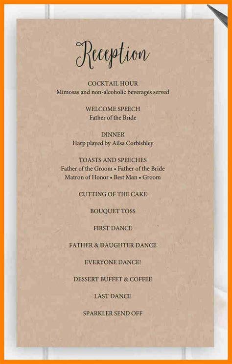 wedding reception program bravebtr