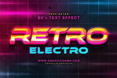 Text Effect 80s Psd Photoshop Adobe Logos