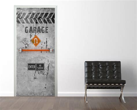 poster mural pour cuisine sticker trompe l 39 il porte acier garage 74 90