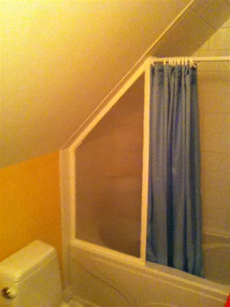 sloped ceiling shower rod home ideas 2016