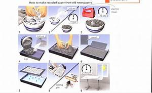 The Diagram Shows The Process Of Making Recycled Paper
