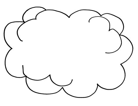 printable cloud template free printable cloud coloring pages for
