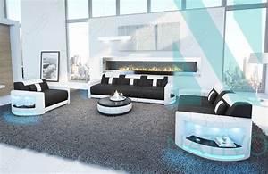 canape atlantis 321 ac eclairage led nativo mobilier design With canapé design avec led