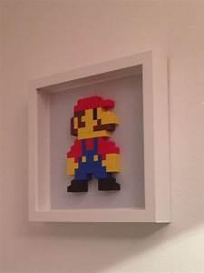 super mario lego wall art With lego wall art