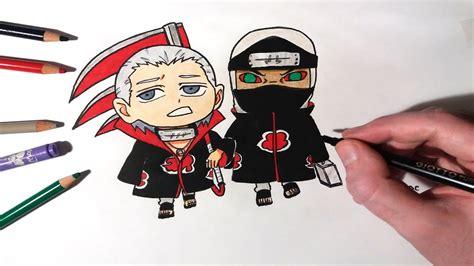 Speed Drawing Chibi Hidan And Kakuzu From Akatsuki