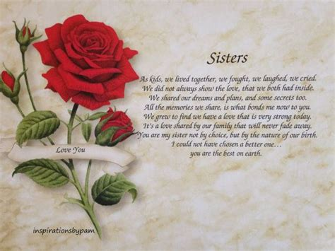 Sisters Mother Day Poems