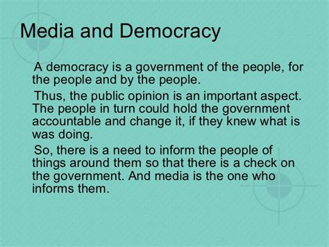 Role Of Media In Democracy