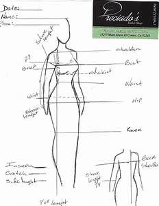 Body Measurements Chart Aveilable For Men And Women
