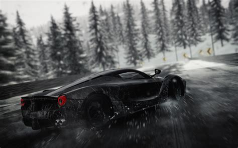 wallpaper  crew ferrari rain  games
