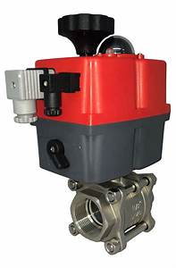 Electric Stainless Steel Ball Valve With J J Actuator