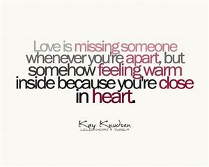 Quotes About Missing Someone You Love. QuotesGram
