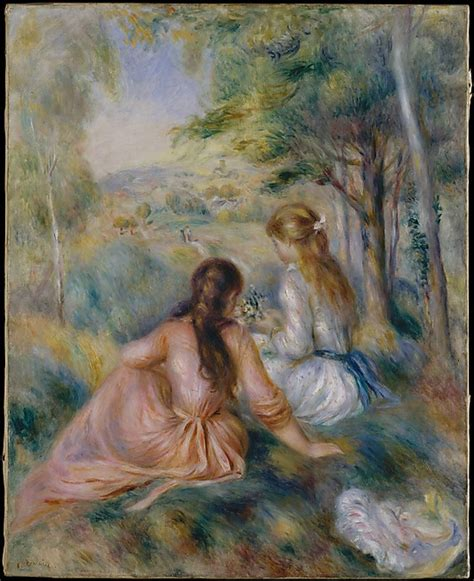 Famous Artist Auguste Renoir And His Painting In The