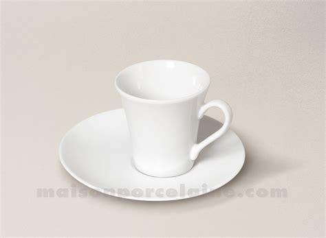 tasse cafe soucoupe porcelaine blanche kosmos 5x7 9cl maison de la porcelaine
