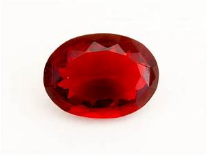 7ct Faceted Red Oval Mexican Fire Opal