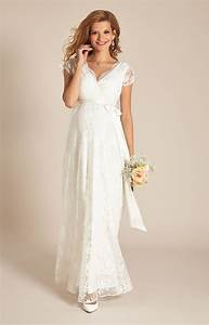 Eden maternity wedding gown long ivory dream maternity for Maternity dresses for wedding