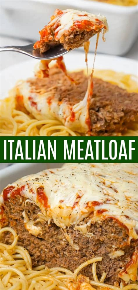 Learn how to make in 5 easy steps! Italian Meatloaf is a delicious two pound ground beef meatloaf recipe loaded with Italian ...