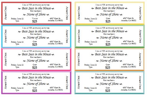 ticket templates online free document templates free event ticket templates for print