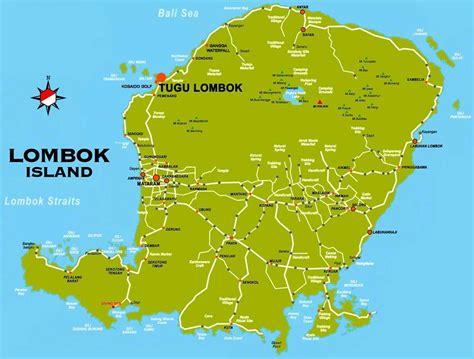 large lombok island maps     print