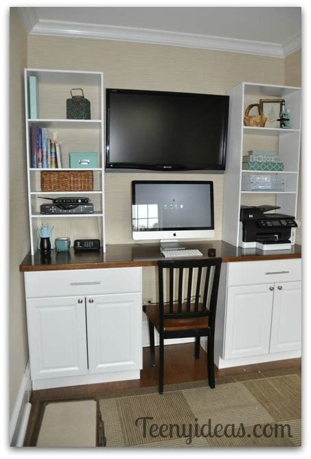 home depot built in office cabinets chagne den on a beer budget teeny ideas