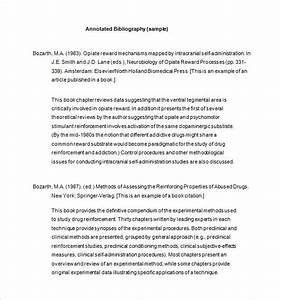 7+ Annotated Bibliography Templates – Free Word & PDF ...