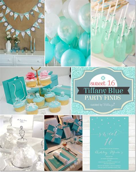 And Blue Birthday Decorations - blue themed sweet 16 ideas baby shower