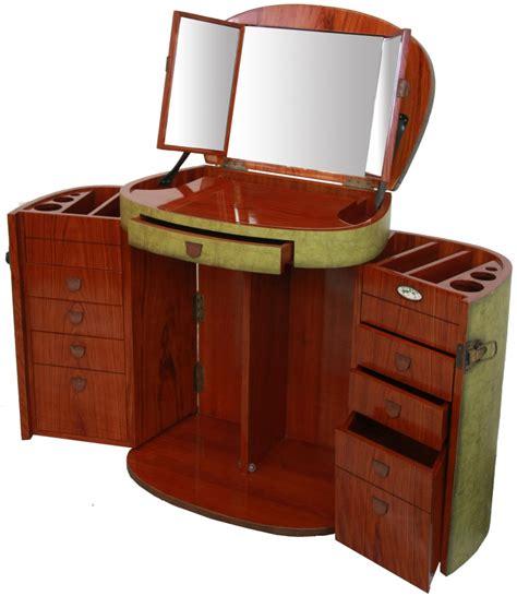 meuble bout de canapé coiffeuse avec miroir couleur jade galante