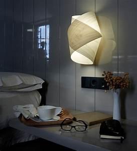 Lampe Bett Kopfteil : schlafzimmer wandleuchte holz raum und m beldesign ~ Lateststills.com Haus und Dekorationen