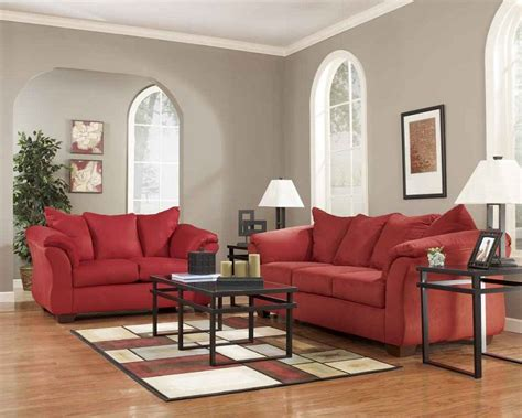 darcy sofa and loveseat ashley furniture darcy salsa living spaces sofa and