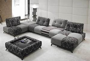 canape divina tissu ou cuir modulable aerre insense mobilier With canape cuir de marque
