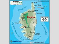 Corsica Map Geography of Corsica Map of Corsica