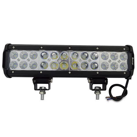 1pcs led light bar 72w flood spot beam 72w led work light