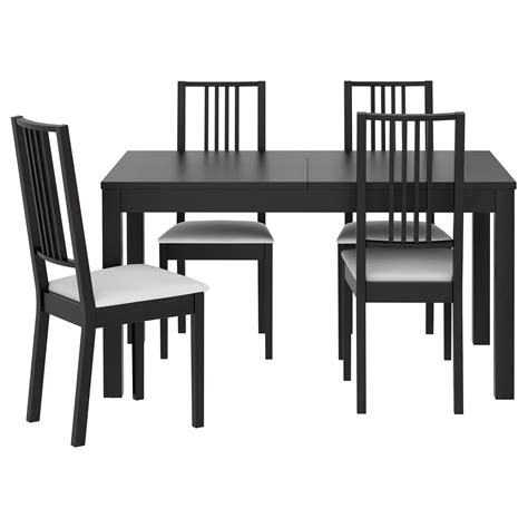ikea dining table ideas bjursta börje table and 4 chairs brown black gobo white