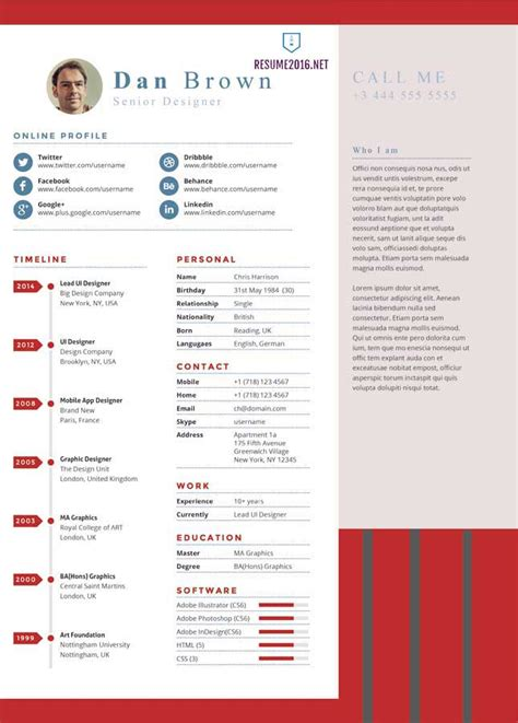 Most Recent Resume Format 2016 by 20 Awesome Resume Templates 2016 Get Employed Today