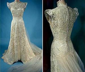 features of 1940s vintage wedding dresses With 1940s vintage wedding dresses