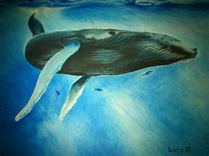 Humpback Whale Painting by Lucy D