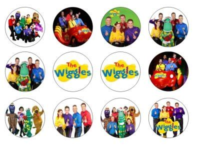 the wiggles edible cupcake toppers x 12 for sale in dalkey dublin from flour power