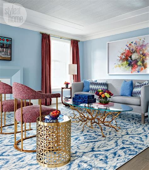 Virginia Macdonald Blue Dining Living Room Zebra Print
