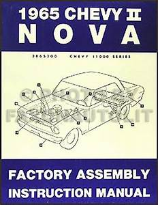 1965 Chevy Ii  U0026 Nova Wiring Diagram Manual Reprint
