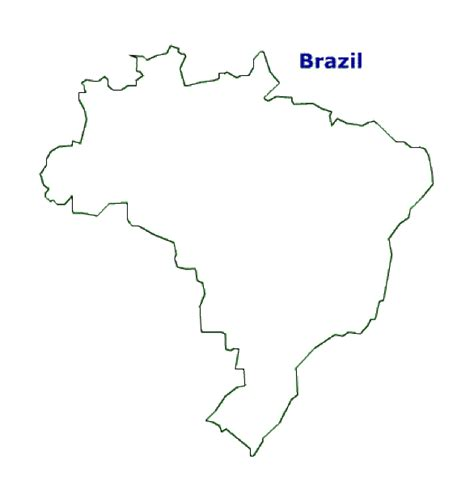 Map of Brazil. Terrain, area and outline maps of Brazil ...