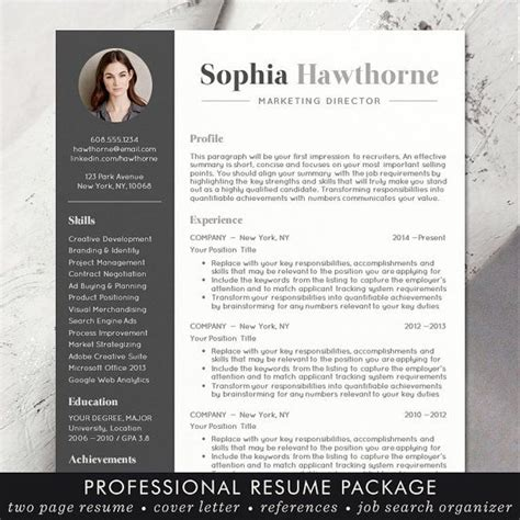 Cv Coloré Gratuit by Professional Resume Template With Photo Modern Cv Word