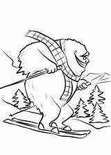 Yeti Coloring Ski Bigfoot Dessin Slope Printable Coloriage Fait Sheet Colouring Dzieci Dla Rysunek Obraz Kolorowanka Drukuj sketch template