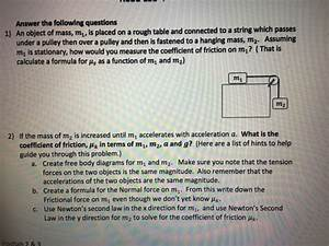 Solved  Answer The Following Questions An Object Of Mass