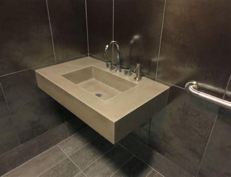 Ada Floating Concrete Bathroom Sink-contemporary