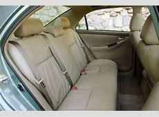 2006 Toyota Corolla LE Rear Seats Picture Pic Image