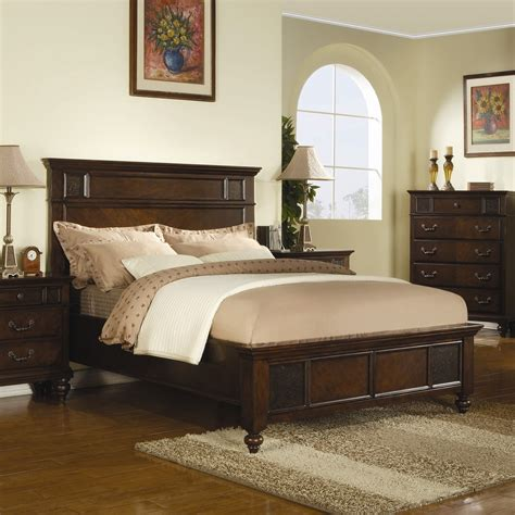 king size classic neo traditional wood bed  dark cherry