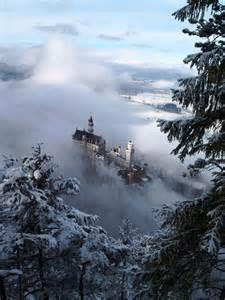 Winter Castle Germany Schloss Neuschwanstein